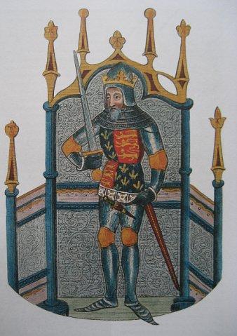 Король Эдуард III на старинном изображении