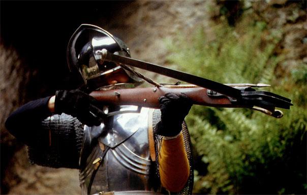 Стрелок арбалетчик в кирасе и шлеме