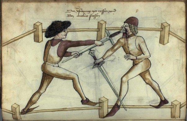 Еще один рисунок из учебника Ханса Тальхоффера