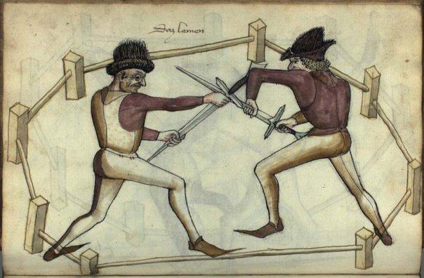 Рисунок из учебника Ханса Тальхоффера