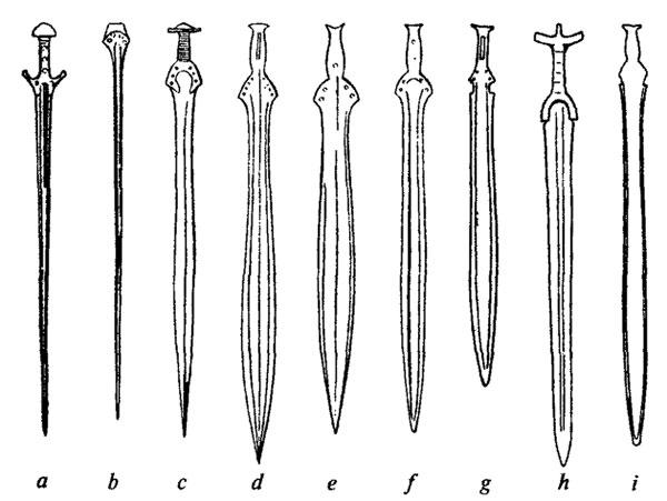 Мечи бронзового века