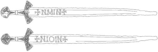каролингский меч из Суонтаки - клеймо