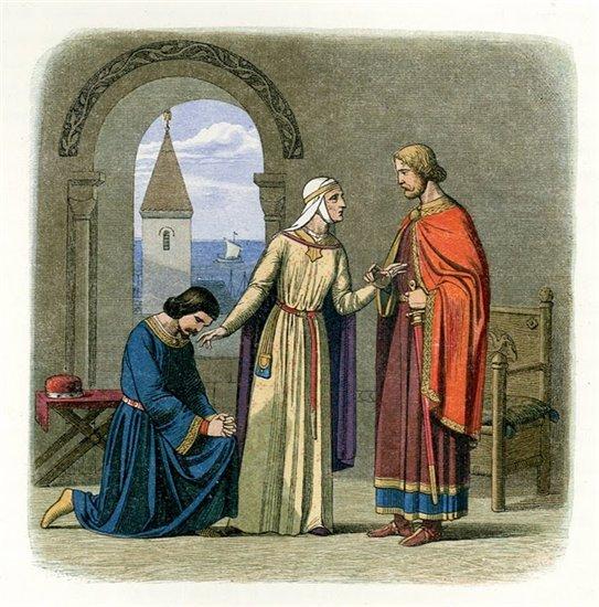 Король Джон просит прощения у Ричарда Львиное Сердце