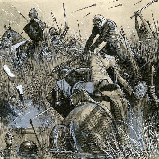 Гибель Робера де Артуа в битве при Куртре