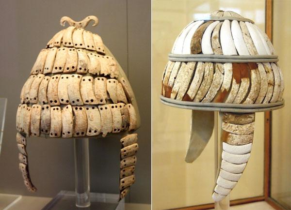 Шлемы из кабаньих клыков