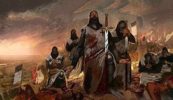Участники крестовых походов в крови