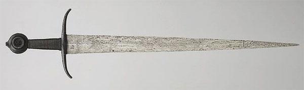 готический меч тип 15