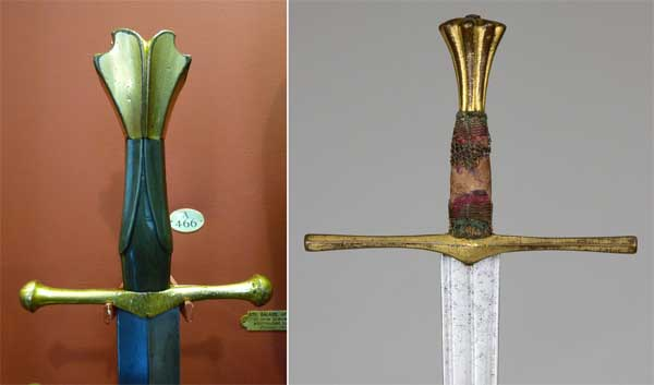 навершия готических мечей