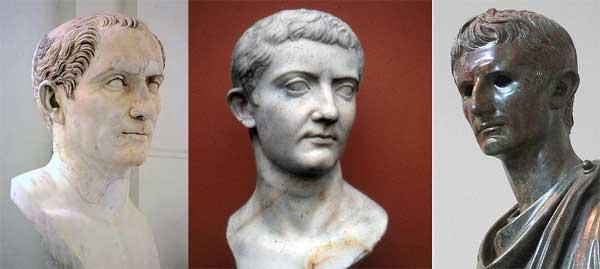 Юлий Цезарь, Тиберий, Октавиан