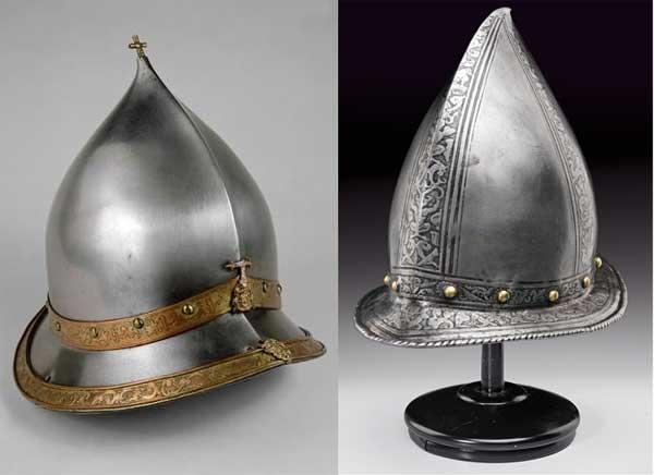 европейские высокие шлемы эпохи шеломов