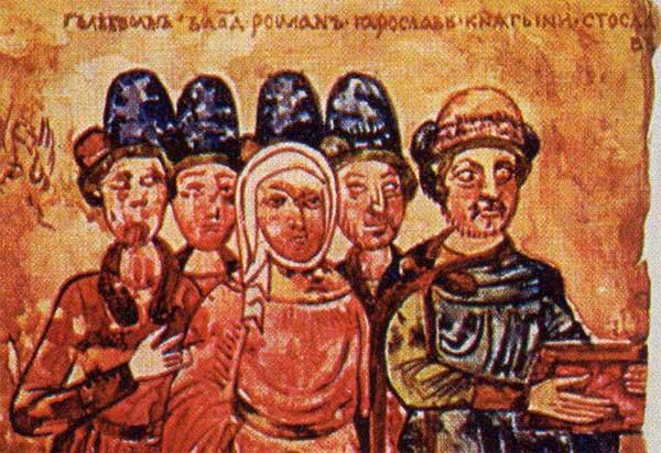 Прическа князя Святослава Ярославича