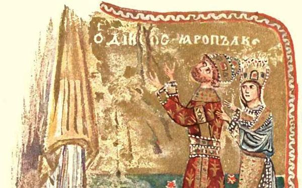 прическа князя Ярополка