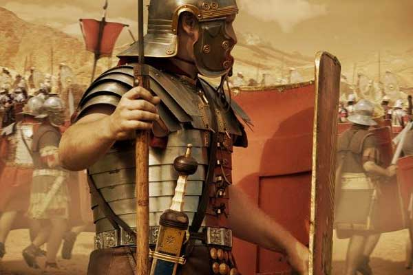 Римский легионер в доспехах