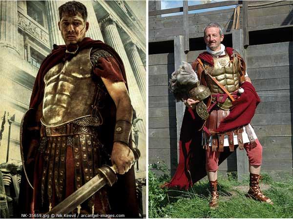 Римский легионер в лорика мускулата