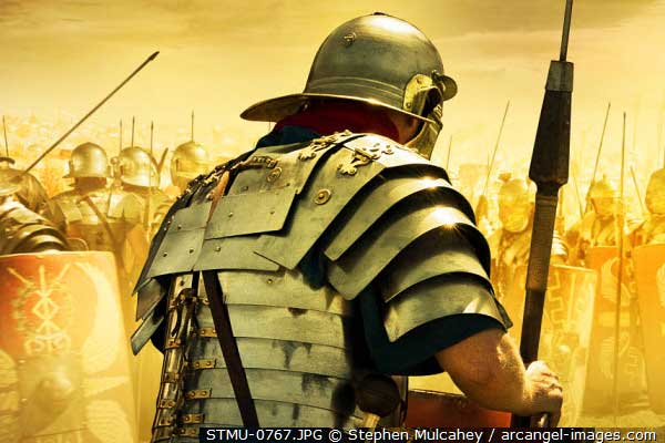 Римский легионер в лорика сегментата