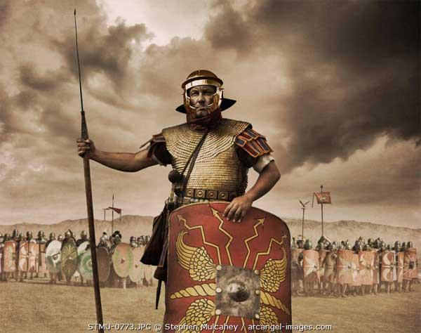 Римский легионер в лорика сквамата