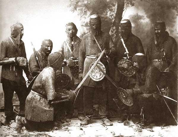 воины Кавказа в мисюрках