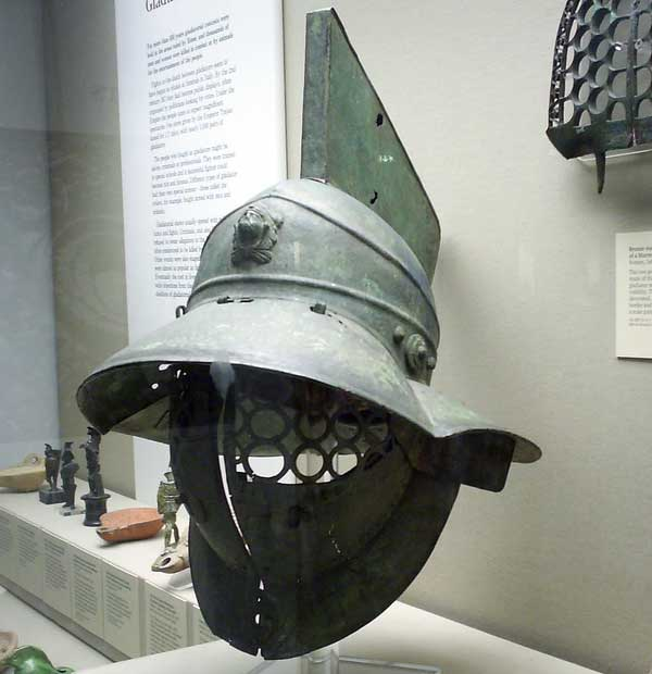 Шлем гладиатора из Британского музея