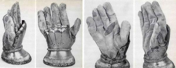 латная рукавица-003