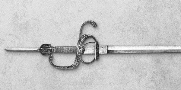 шпага с выдвижным клинком-21