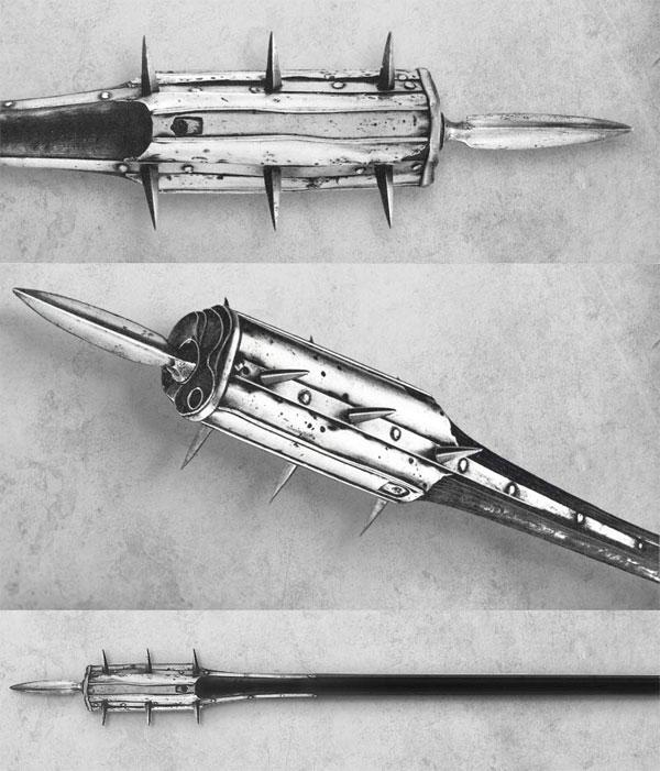 комбинированное оружие с колесцовым пистолетом