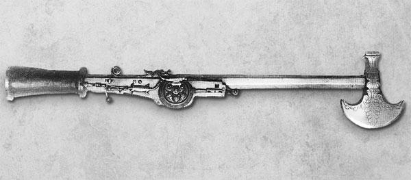 боевой топор с колесцовым пистолетом-41