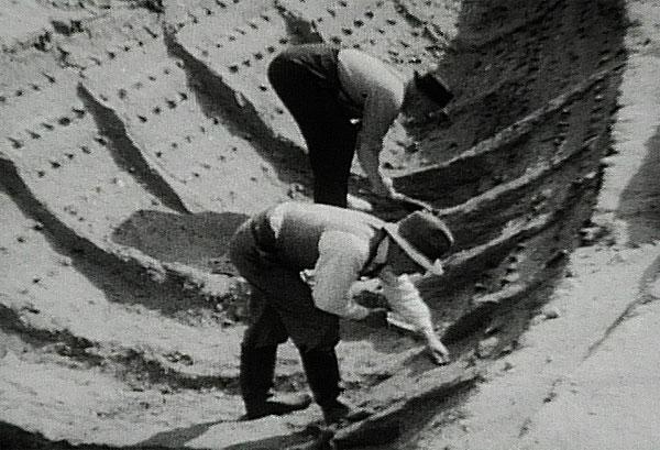 раскопки в кургане Саттон-Ху