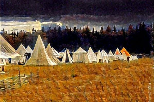 лагерь крестового похода